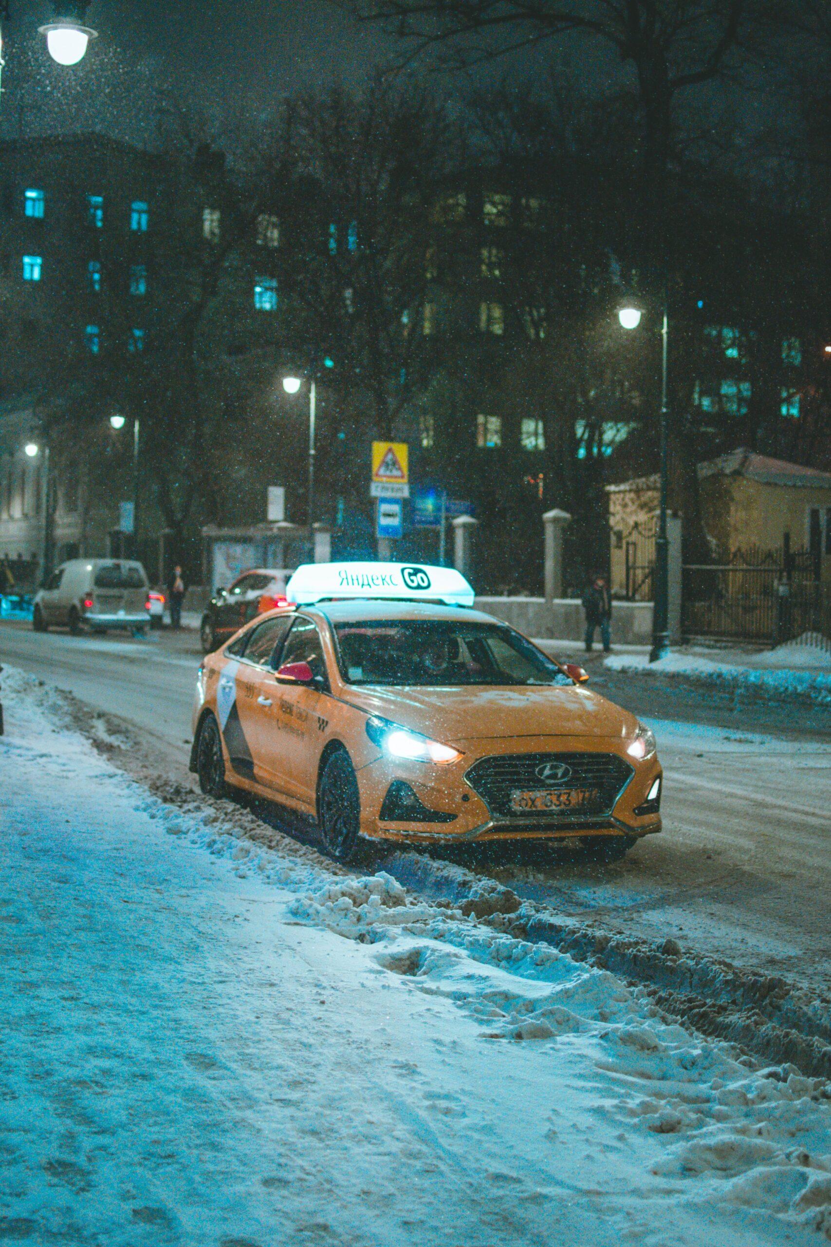 Зимние проблемы водителей такси